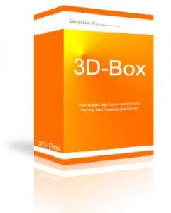 3D-Box mit Spiegelung und Schatten
