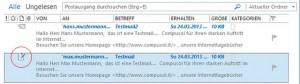 Durch das Apple iCloud Plugin für Outlook werden Mails im Postausgang automatisch als geöffnet markiert, wenn man sie anklickt.