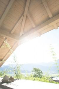 Foto mit Blende 7,1 - Lens Flares sind nur als leichte hellere Bereiche zu erkennen