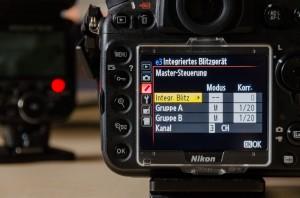 Nikon D800 Menü e3: Integriertes Blitzgerät
